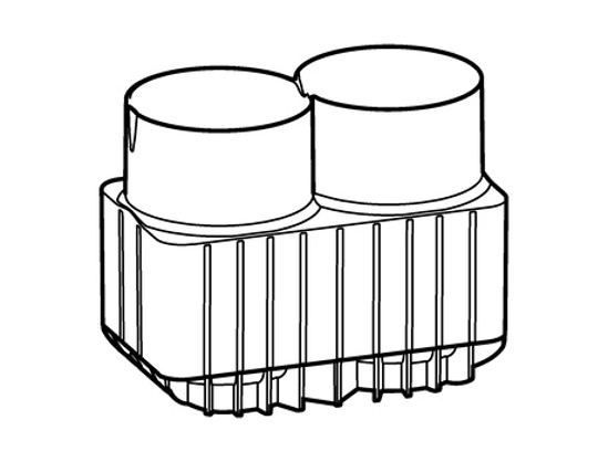 Picture of Adapter for 250 mL flasks and 175-225 mL conical tubes for rotor S-4xUniversal-Large