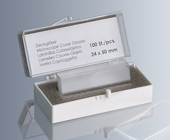 Picture of Cover glasses No.1.5, 24x40mm / PK 100