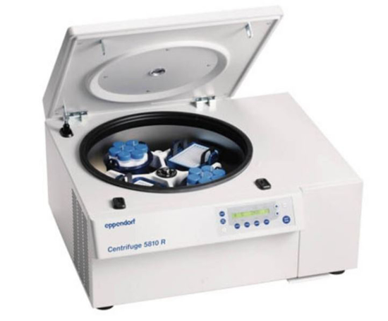 Picture of Centrifuge 5810 R bundle incl. S-4-104 rotor & 15/50ml adaptors and DWP buckets (set of 2) + 15/50ml centrifuge tubes and 2 sets of AT caps for 750 mL buckets